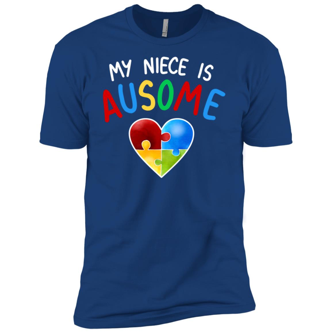 Love My Autistic Niece Autism Awareness Men Short Sleeve T-Shirt