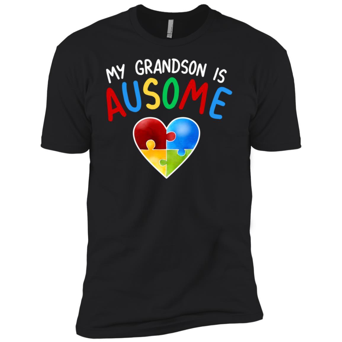 Love My Autistic Grandson Autism Awareness Men Short Sleeve T-Shirt