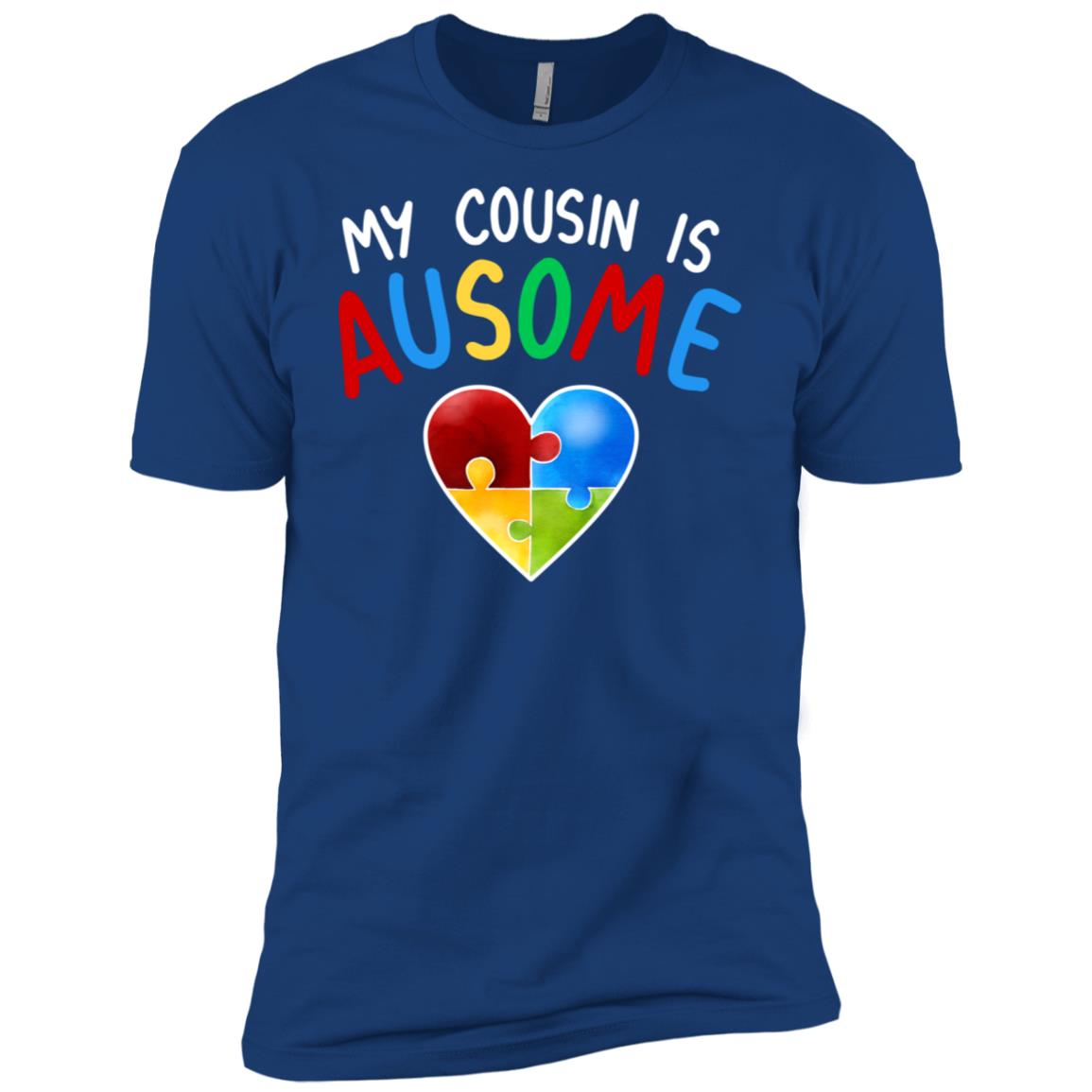 Love My Autistic Cousin Autism Awareness Men Short Sleeve T-Shirt