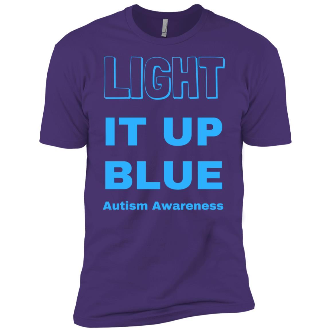 Light It Up Blue Autism Awareness Mom Dad Love Family-1 Men Short Sleeve T-Shirt