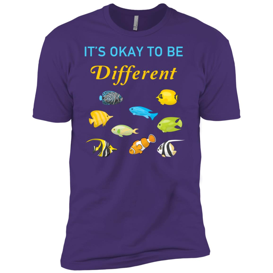 Its Okay To Be Different Tropical Fish Autistic Gift Men Short Sleeve T-Shirt
