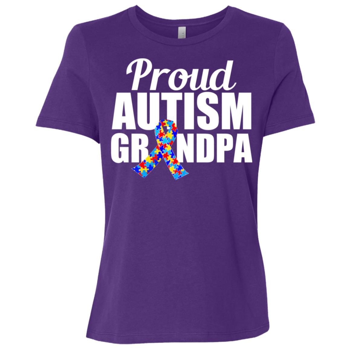 Proud Autism Grandpa Women Short Sleeve T-Shirt