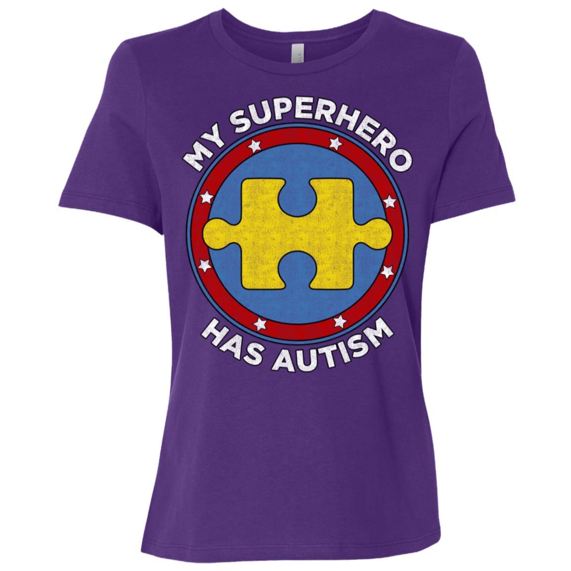 My Superhero Has Autism Awareness Support Women Short Sleeve T-Shirt