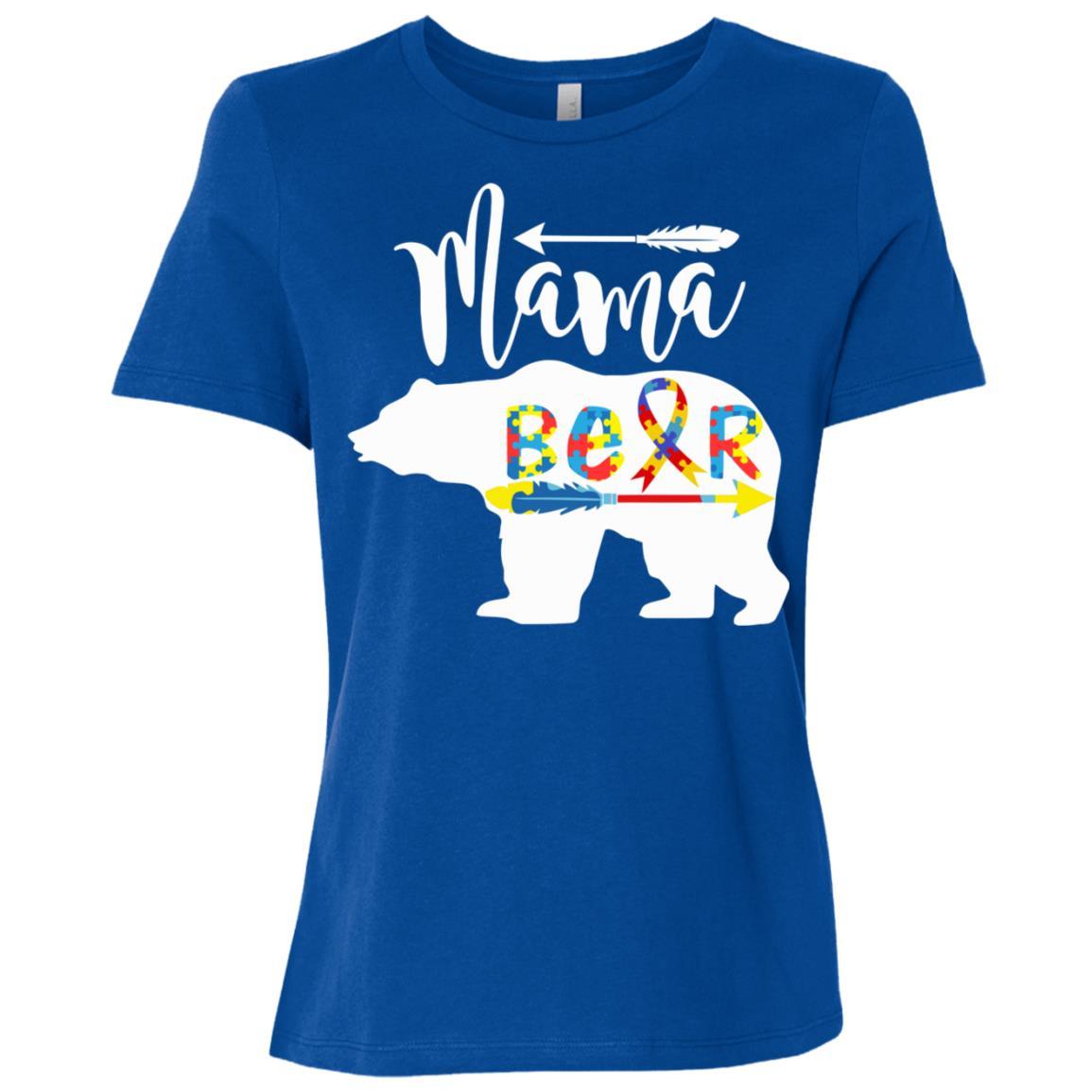 Mama Bear Autism Women Short Sleeve T-Shirt