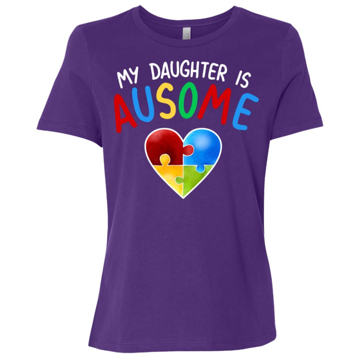 Love My Autistic Daughter Autism Awareness Women Short Sleeve T-Shirt