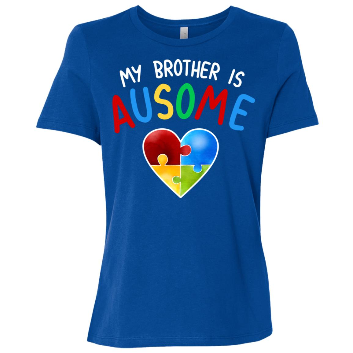 Love My Autistic Brother Autism Awareness Women Short Sleeve T-Shirt
