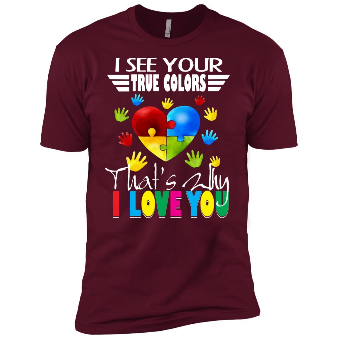 Super Autism See Your True Colors Kids Men Short Sleeve T-Shirt