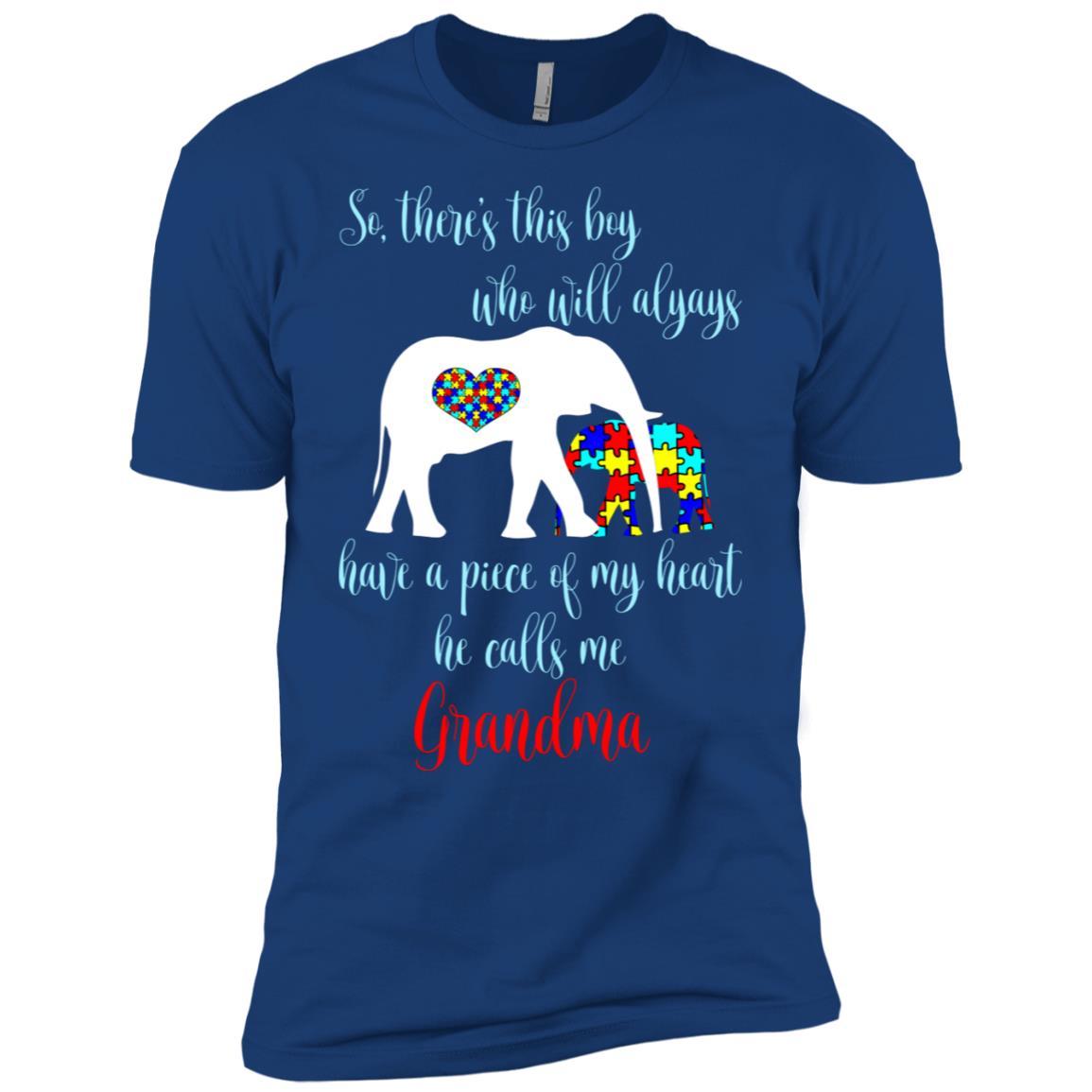 So There's This Boy Calls Me Grandma Autism Men Short Sleeve T-Shirt
