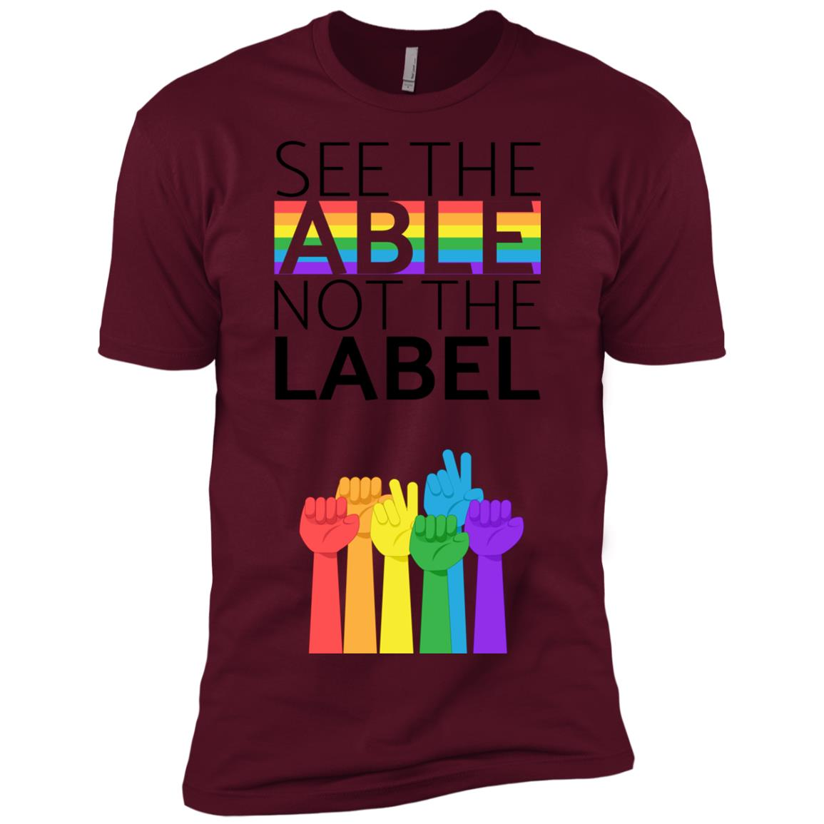 See The Able Not The Label Anti Bullying s Men Short Sleeve T-Shirt