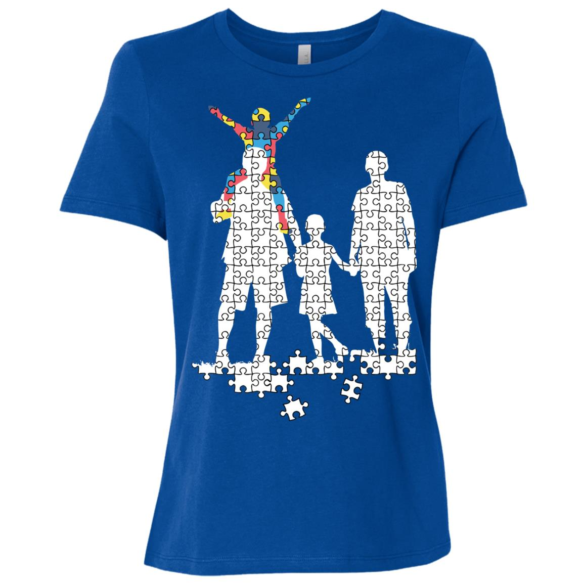 Support Autism Family Jigsaw Autism Pride Women Short Sleeve T-Shirt
