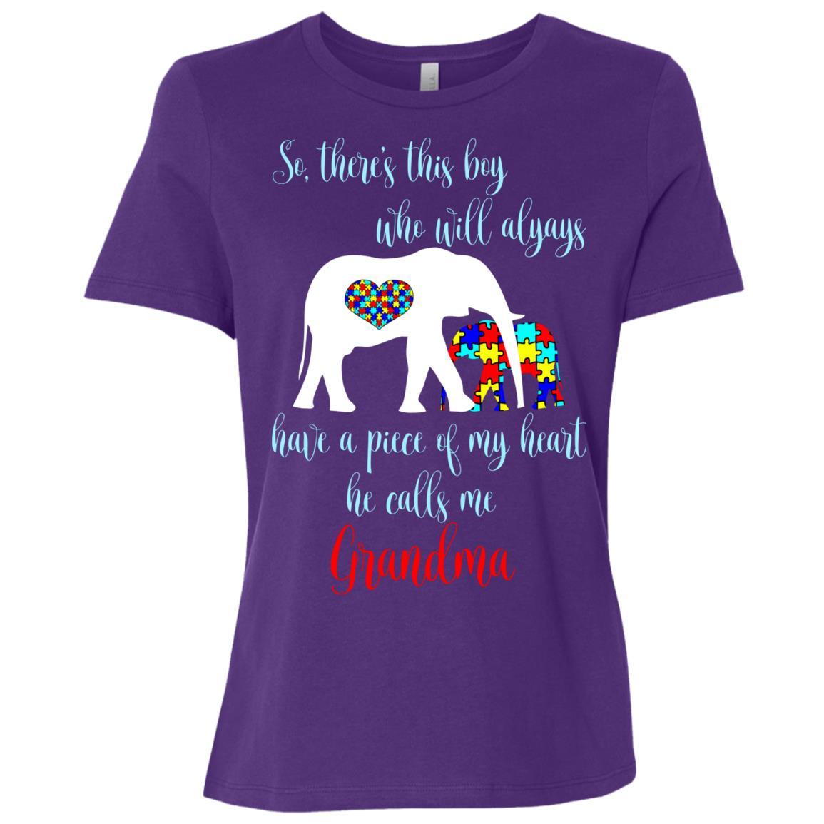 So There's This Boy Calls Me Grandma Autism Women Short Sleeve T-Shirt