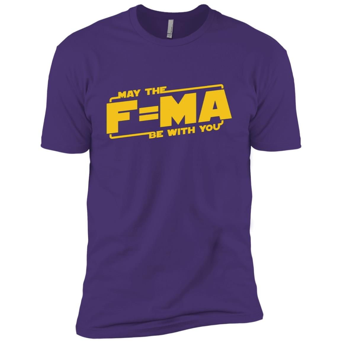 May The Force F=MA Be With You Funny Nerdy Men Short Sleeve T-Shirt