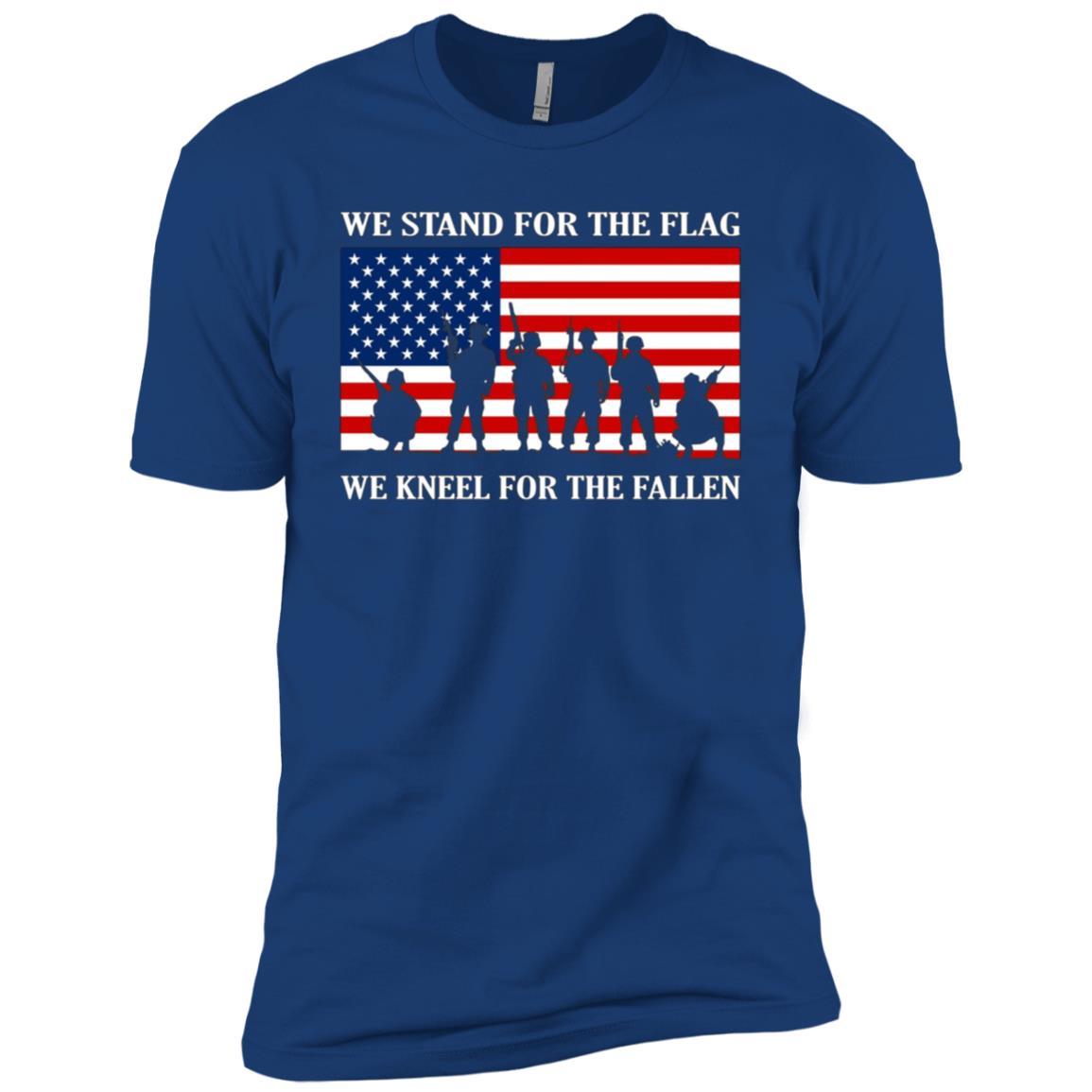 I Don't Kneel I Stand For The National Anthem Flag Men Short Sleeve T-Shirt