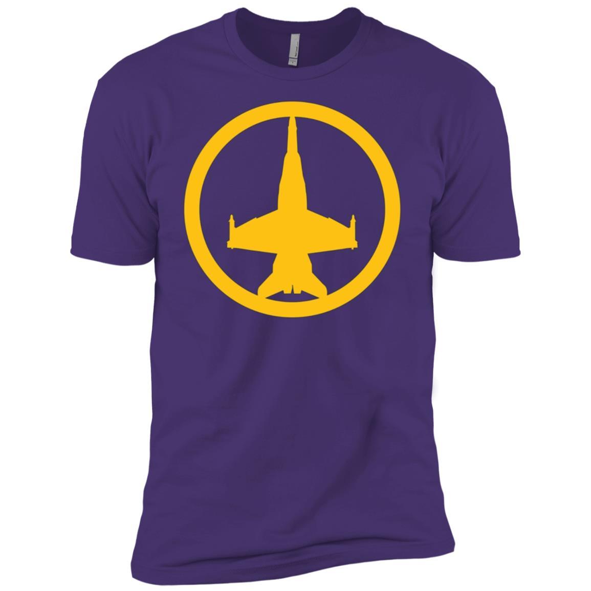 FA-18 Super Hornet (Yellow) USAF Air Supremacy Jet Men Short Sleeve T-Shirt