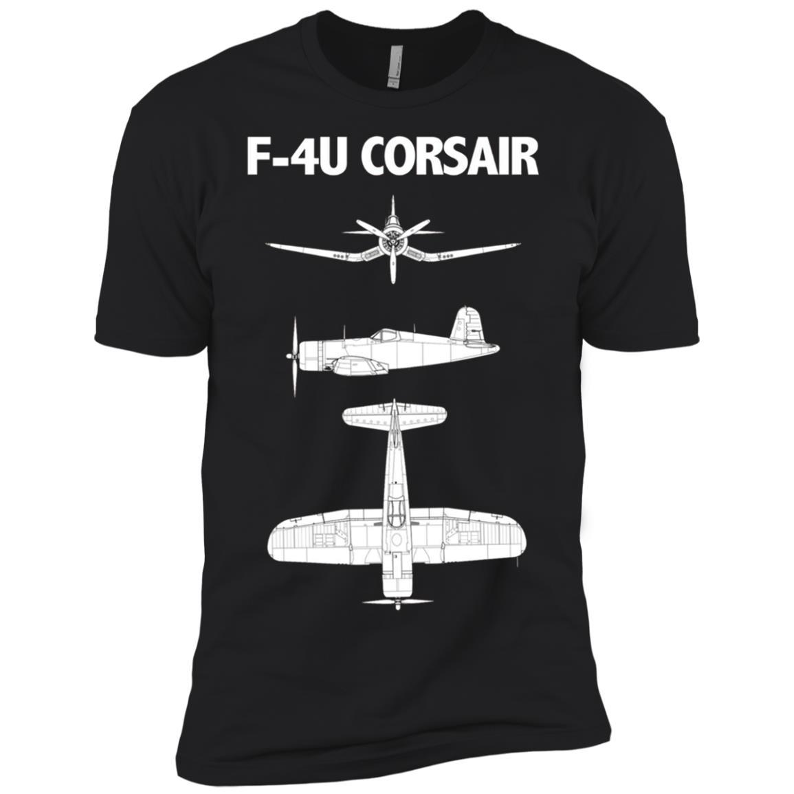 F-4U Corsair WWII Aircraft Men Short Sleeve T-Shirt