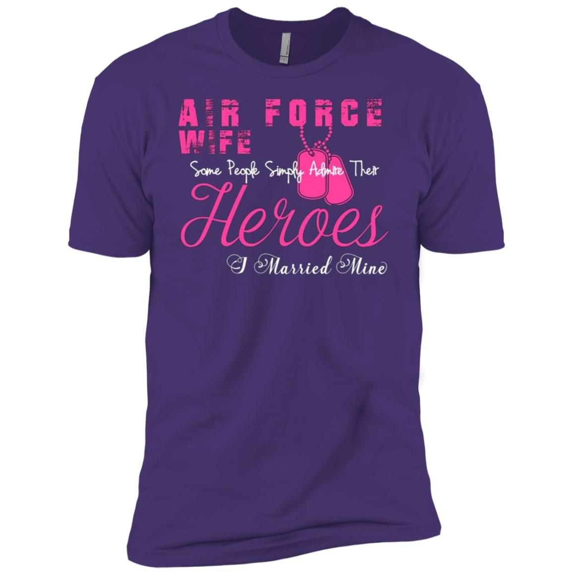 Air force wife – Proud air force wife Men Short Sleeve T-Shirt