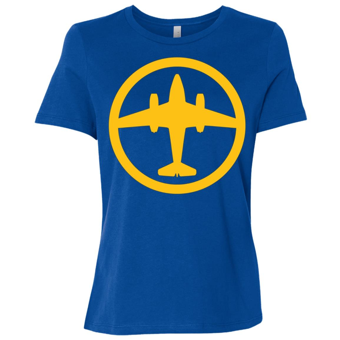 Me 262 Schwalbe (Yellow) World War II Airplane Women Short Sleeve T-Shirt