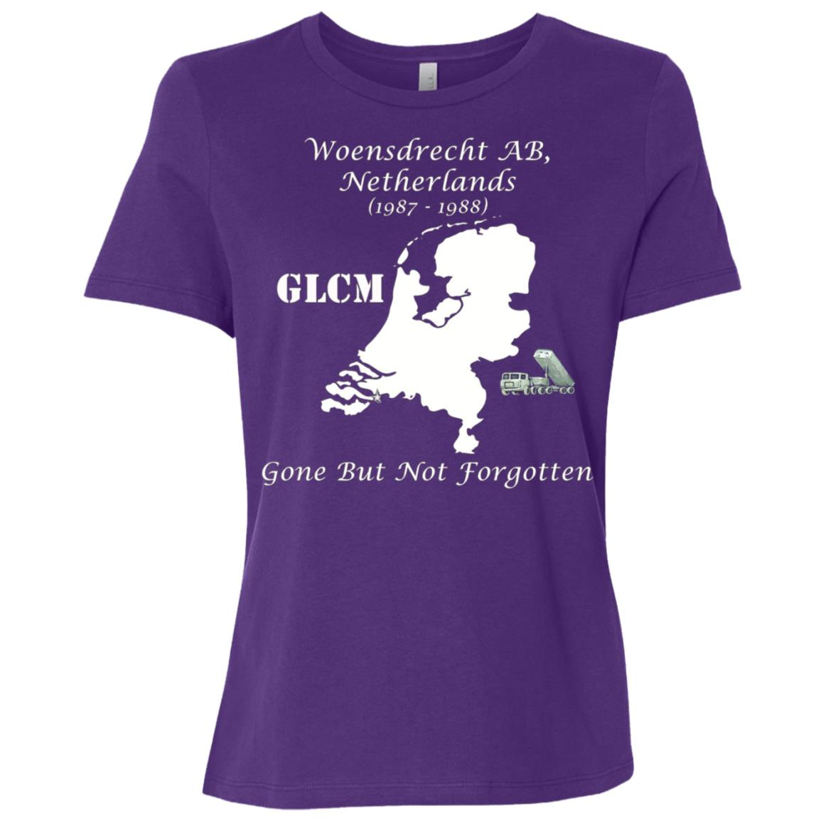 GLCM Woensdrecht AB Netherlands Gone But Not Forgotten Women Short Sleeve T-Shirt