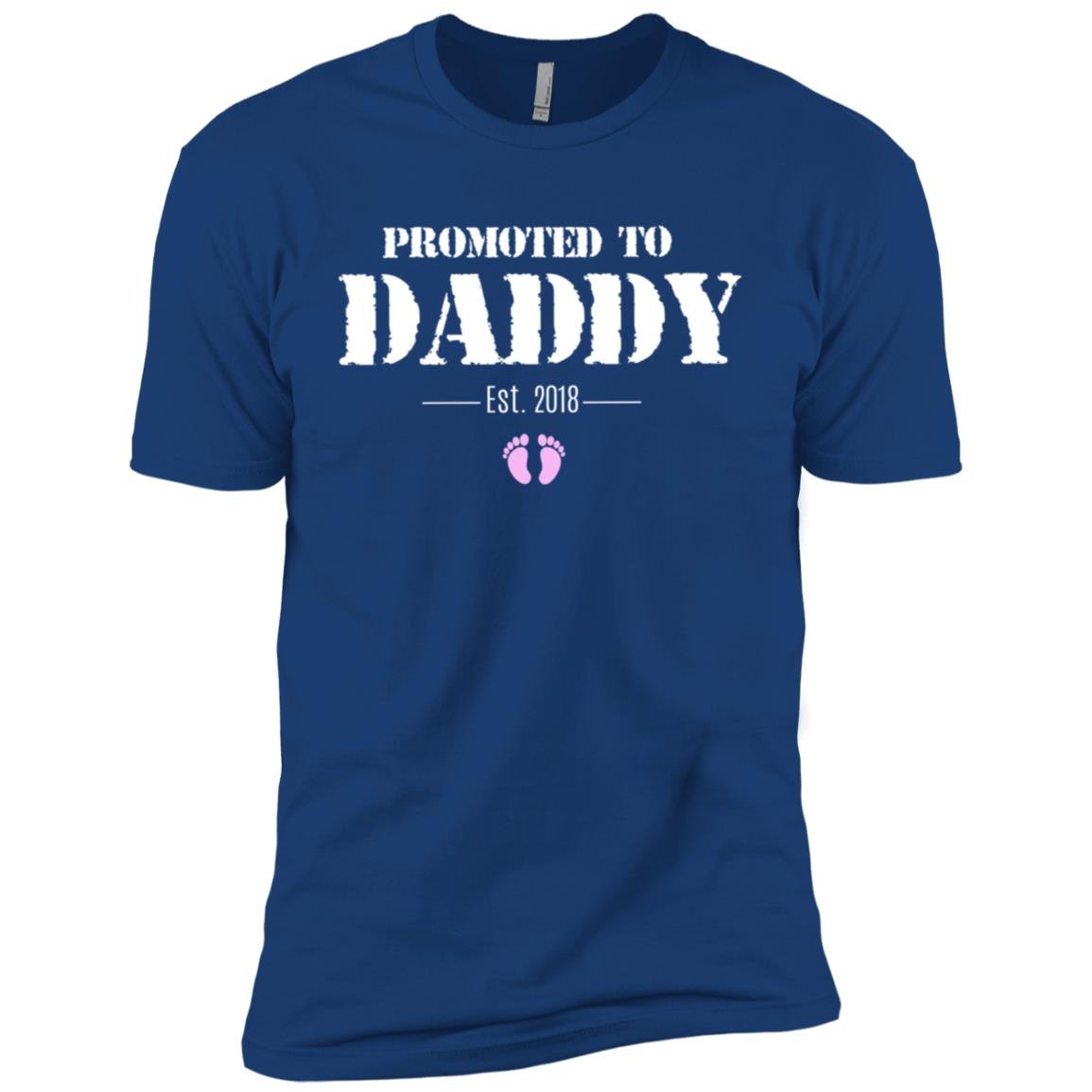 for New Dad Promoted To Daddy 2018 – Girl Men Short Sleeve T-Shirt