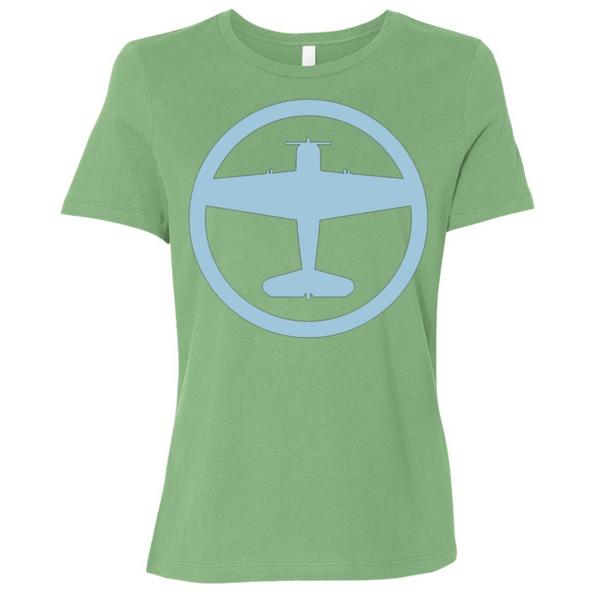 F6F Hellcat (Blue) USAF Navy World War II Airplane Women Short Sleeve T-Shirt