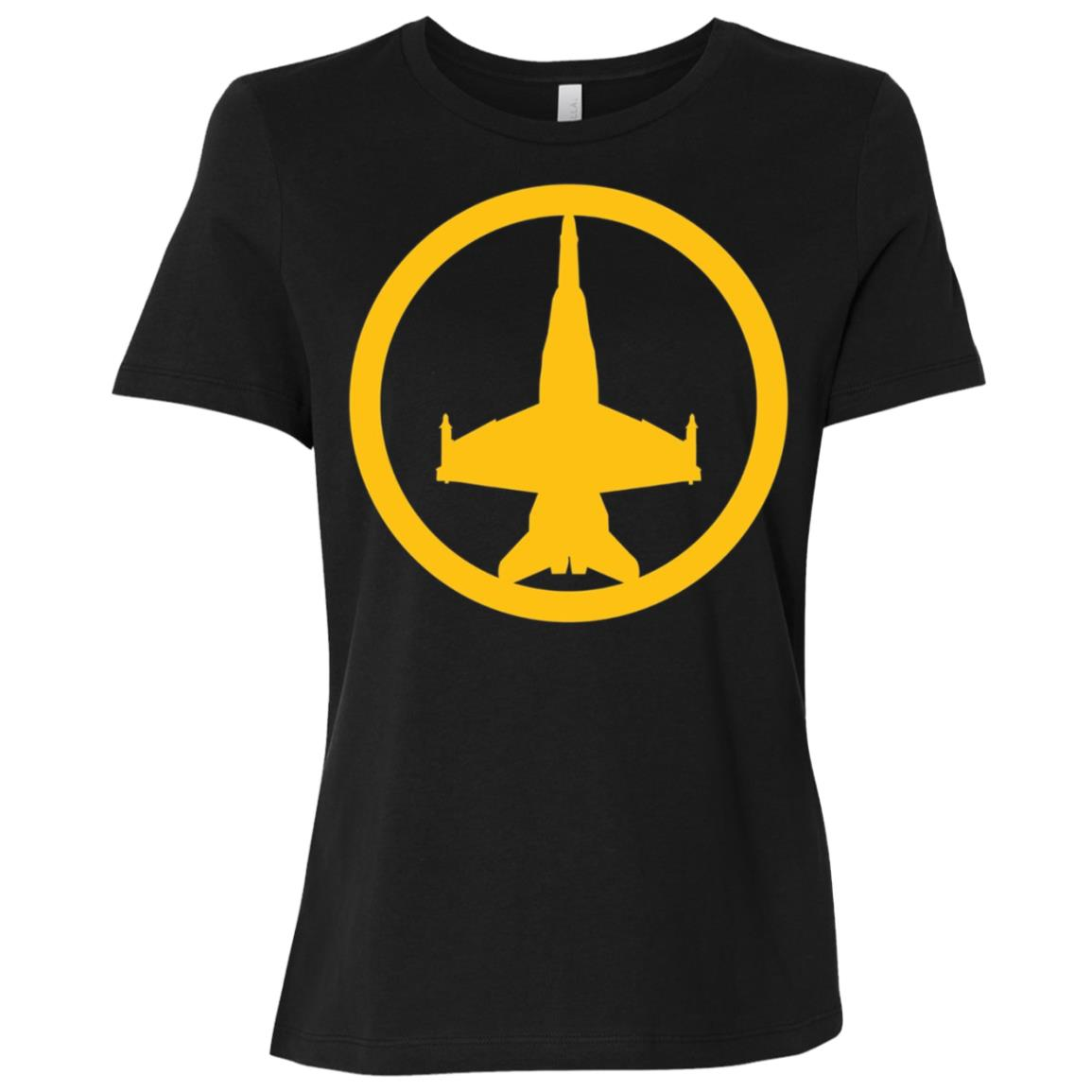 FA-18 Super Hornet (Yellow) USAF Air Supremacy Jet Women Short Sleeve T-Shirt