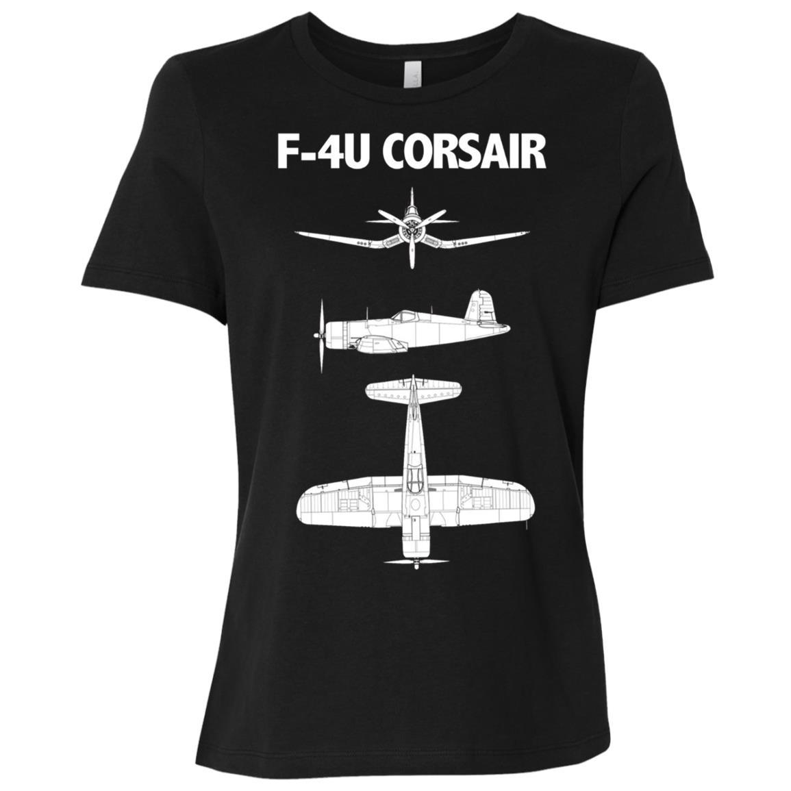 F-4U Corsair WWII Aircraft Women Short Sleeve T-Shirt