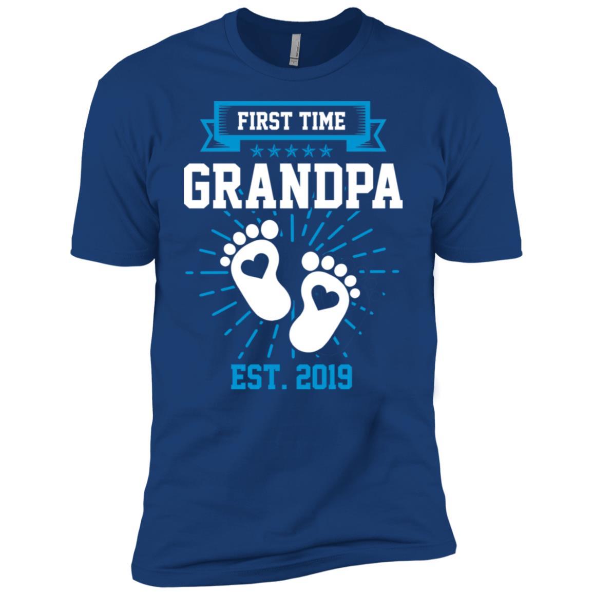 First Time Grandpa Est 2019 Gift Men Short Sleeve T-Shirt