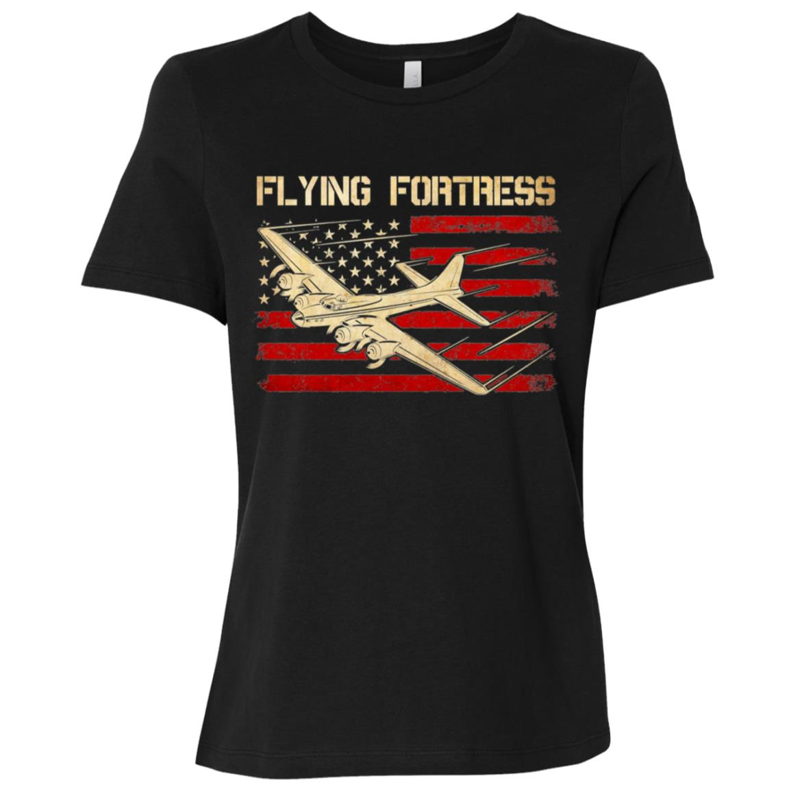 B-17 Flying Fortress Flag Women Short Sleeve T-Shirt