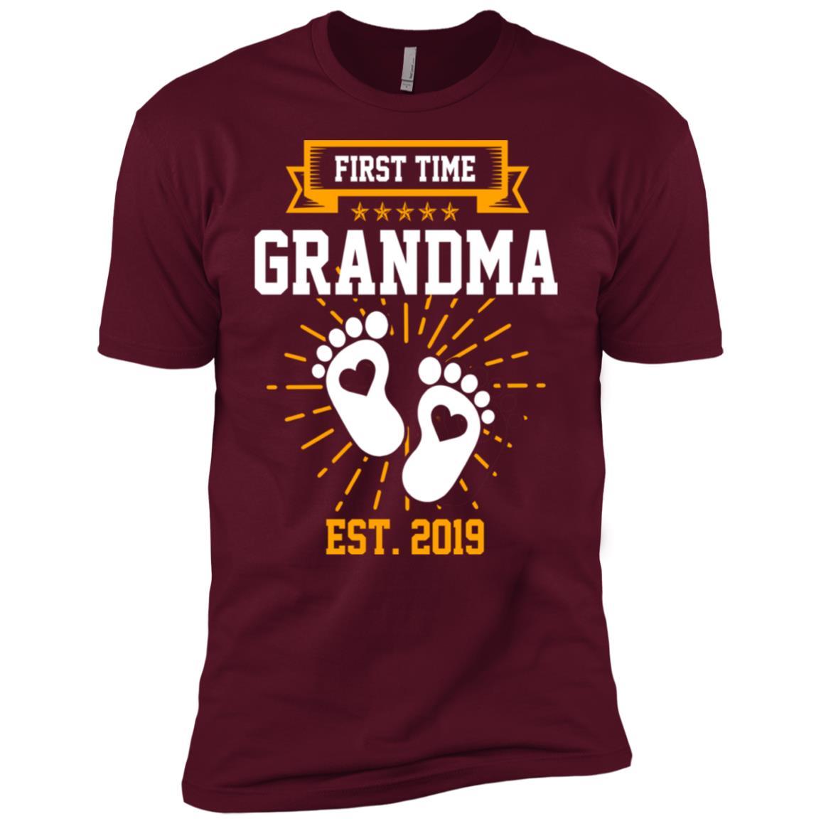 First Time Grandma Est 2019 Gift Men Short Sleeve T-Shirt