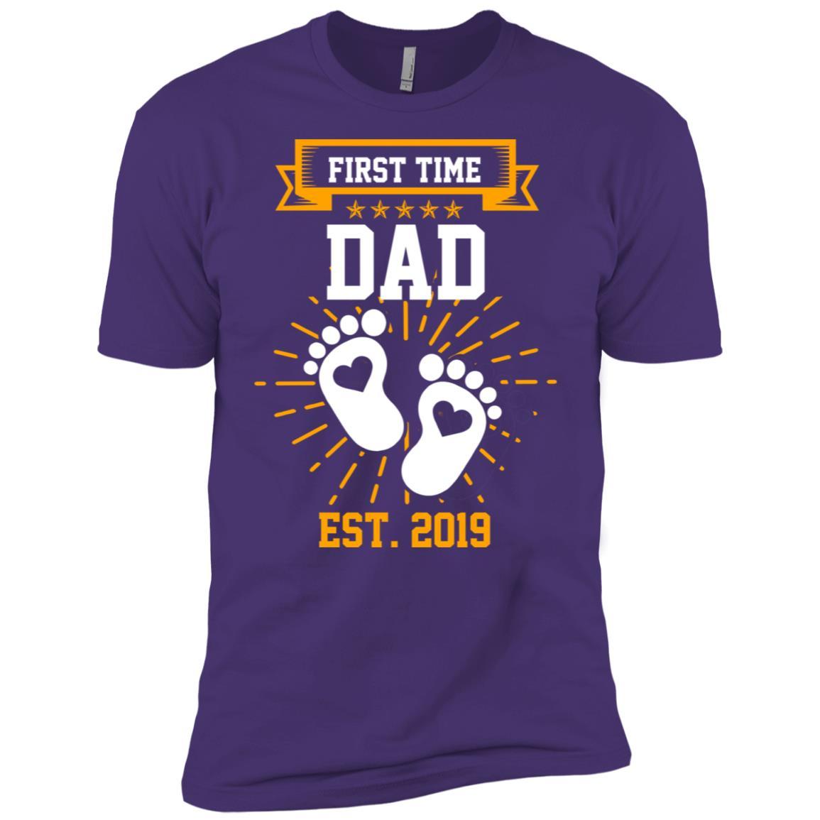 First Time Dad Est 2019 Gift Men Short Sleeve T-Shirt