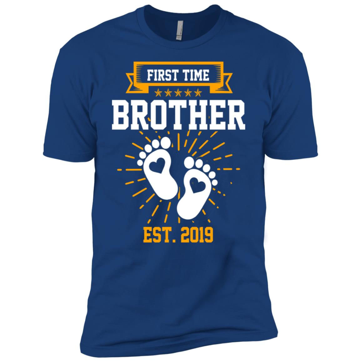 First Time Brother Est 2019 Gift Men Short Sleeve T-Shirt
