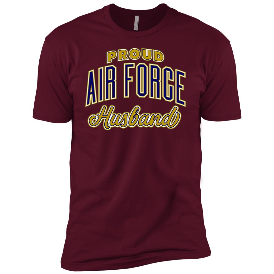 Mens Proud Air Force Husband Men Short Sleeve T-Shirt