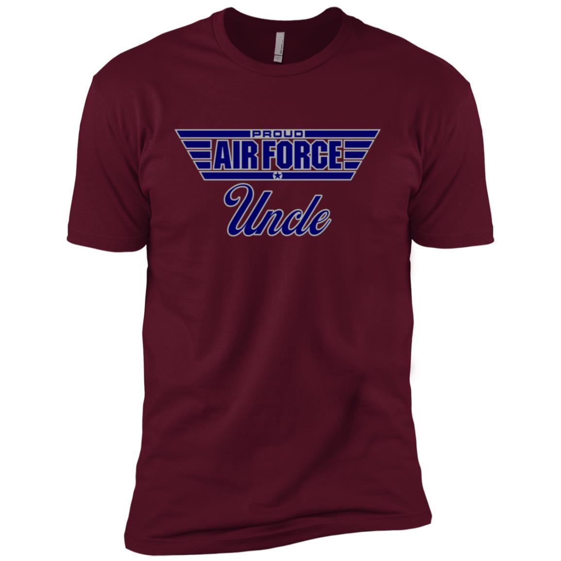 Mens Proud Air Force Uncle Men Short Sleeve T-Shirt