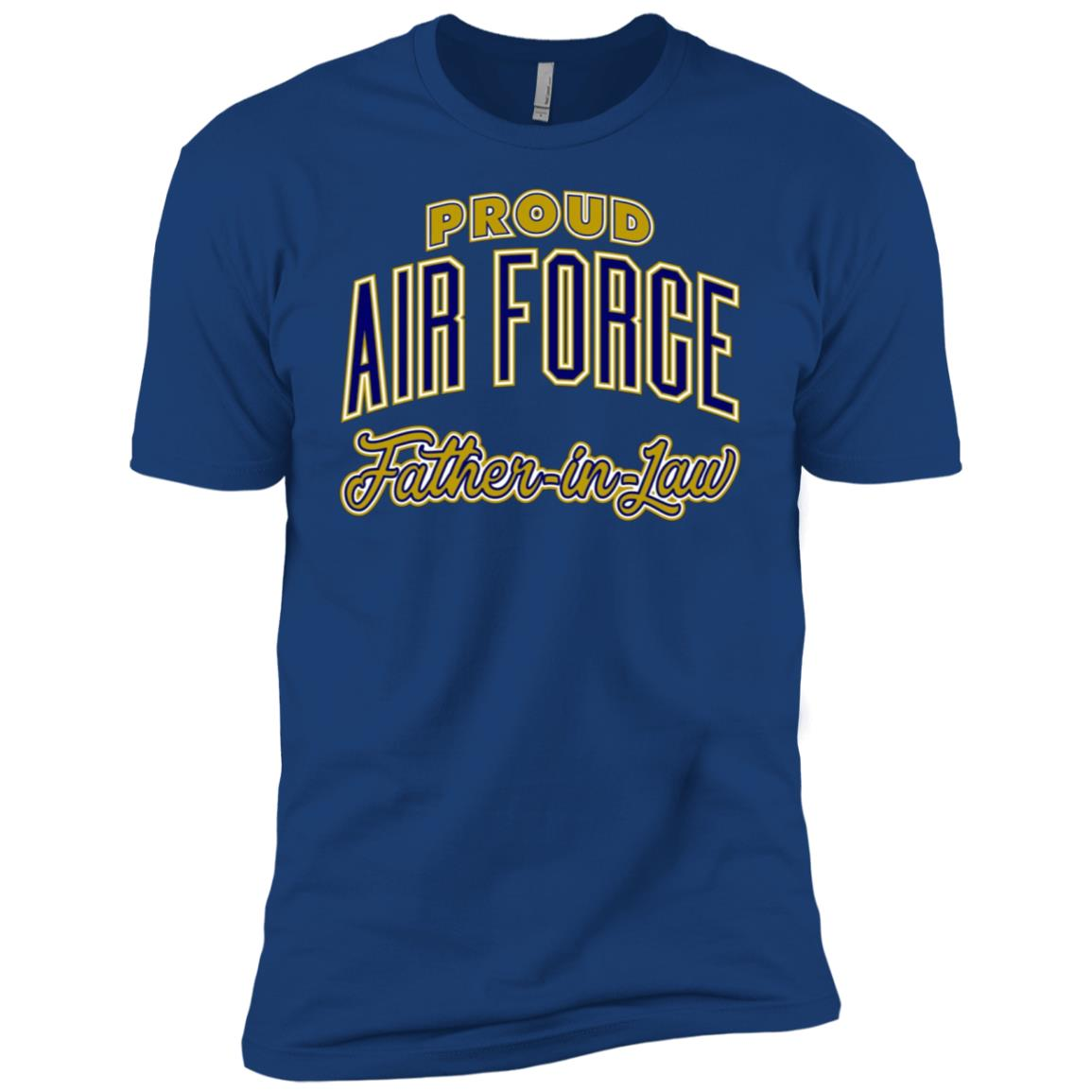 Mens Proud Air Force Father-in-Law Men Short Sleeve T-Shirt