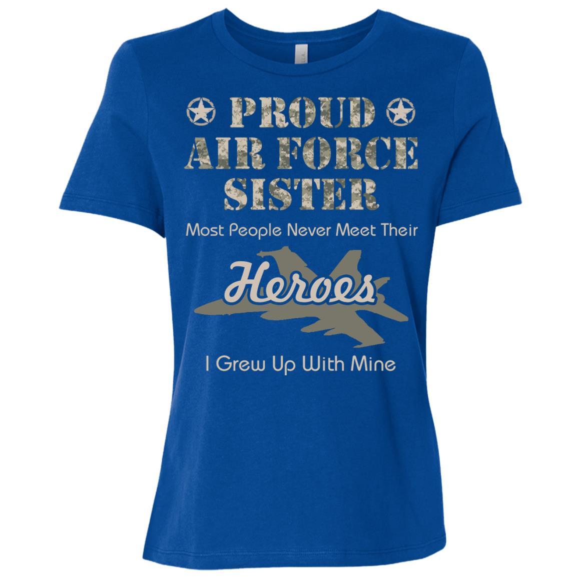 Proud Air Force Sister Women Short Sleeve T-Shirt
