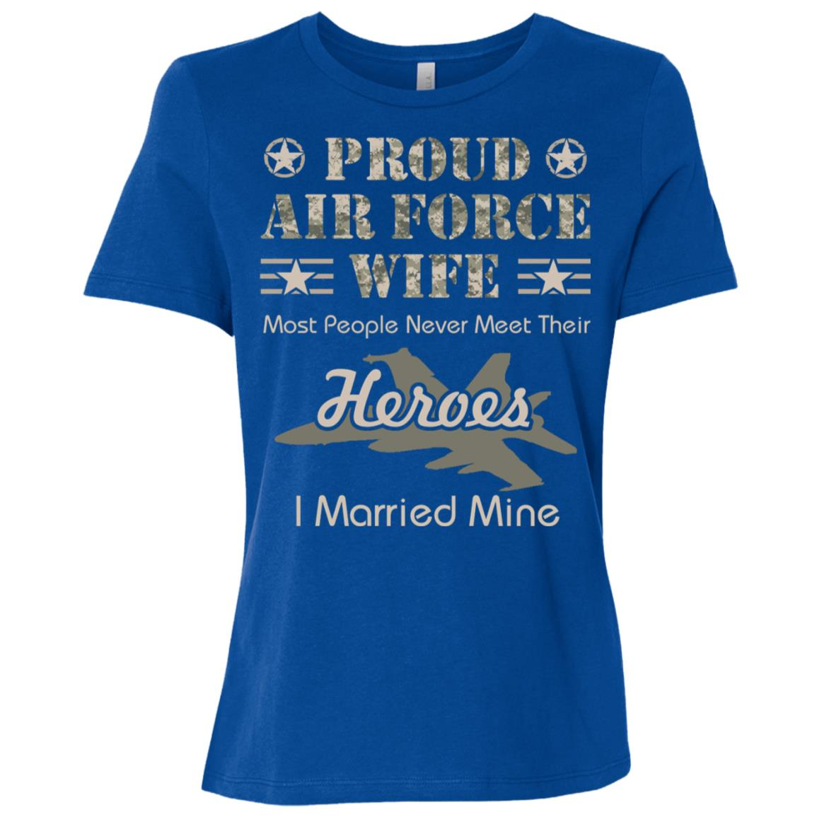 Proud Air Force Wife Women Short Sleeve T-Shirt