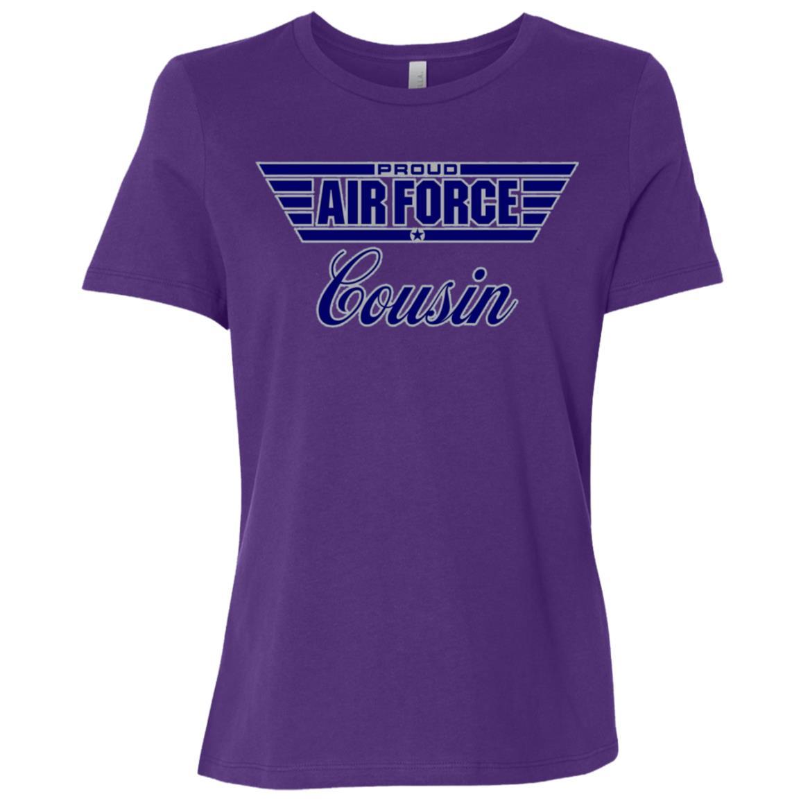 Proud Air Force Cousin Women Short Sleeve T-Shirt
