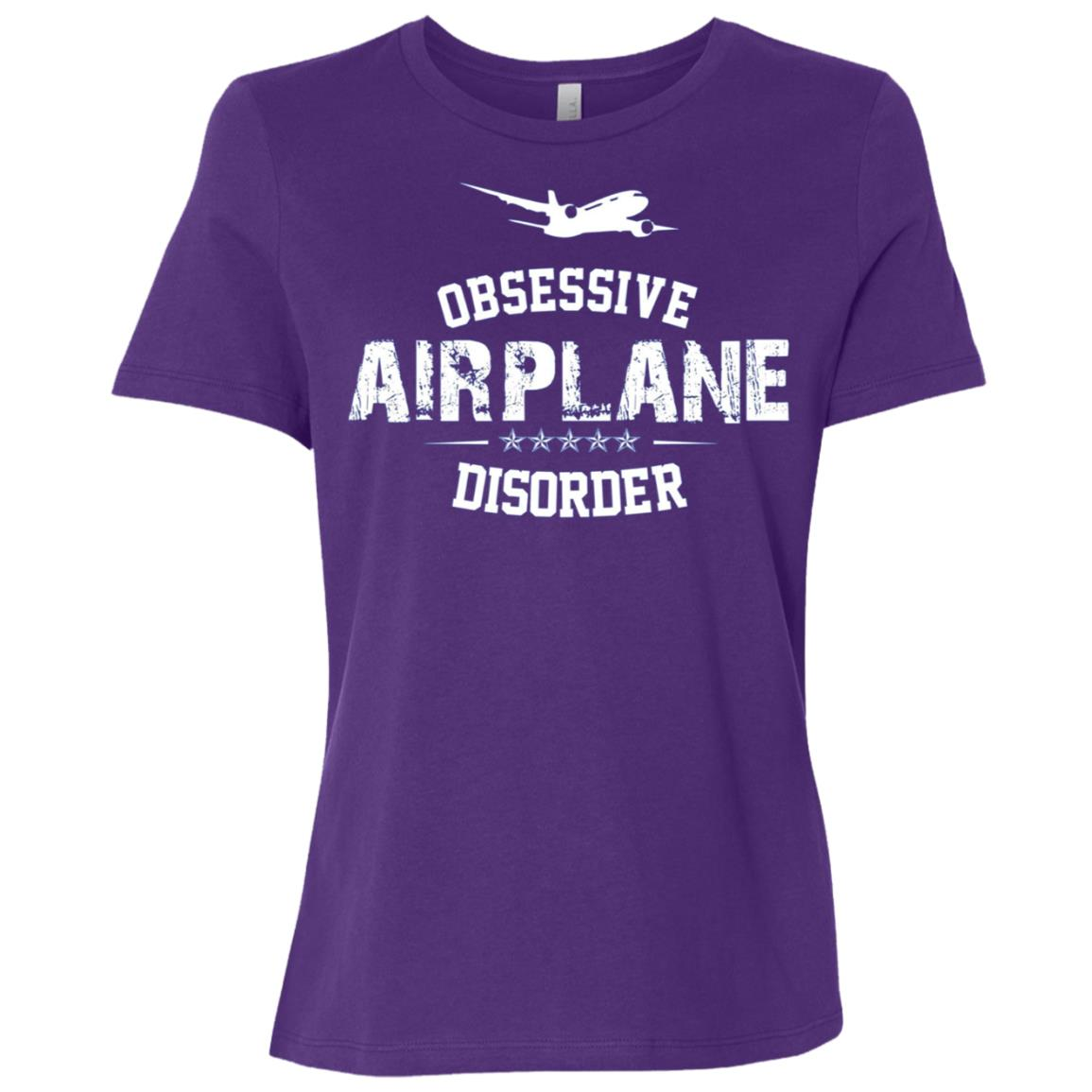 Obsessive Airplane Disorder distressed aviation Women Short Sleeve T-Shirt
