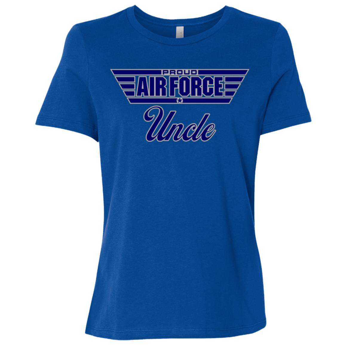 Mens Proud Air Force Uncle Women Short Sleeve T-Shirt