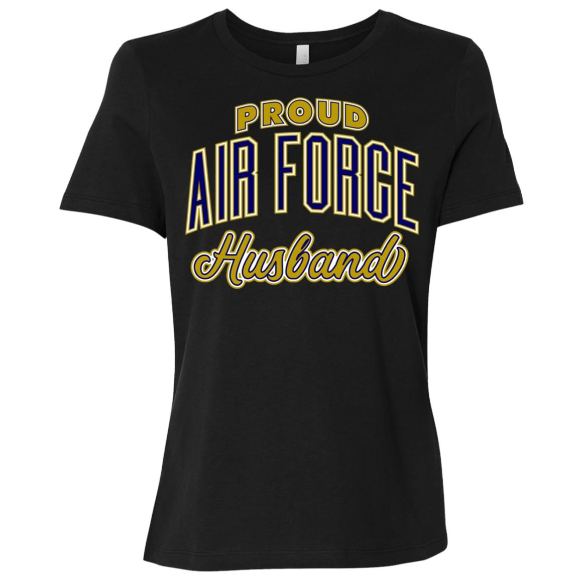 Mens Proud Air Force Husband Women Short Sleeve T-Shirt
