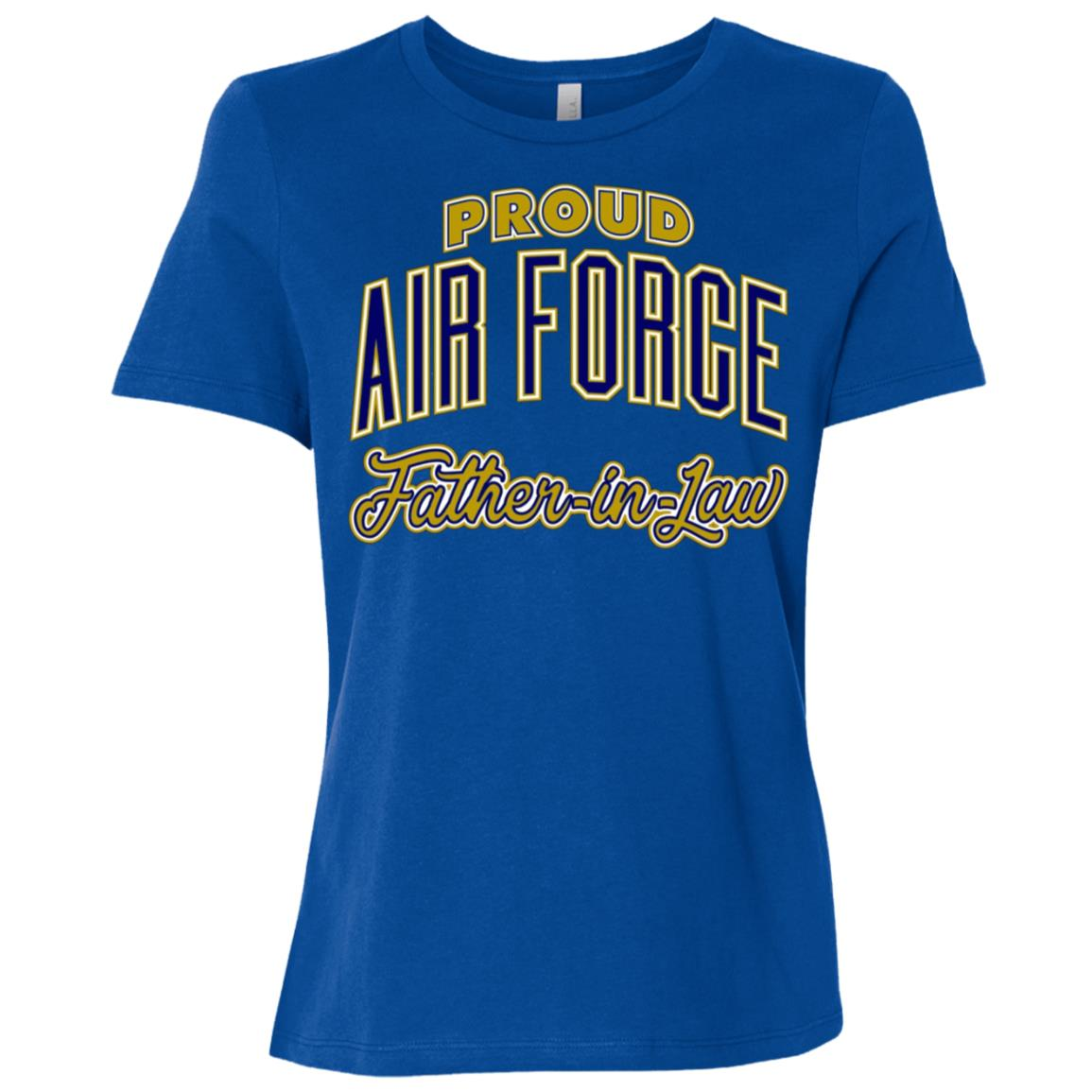 Mens Proud Air Force Father-in-Law Women Short Sleeve T-Shirt