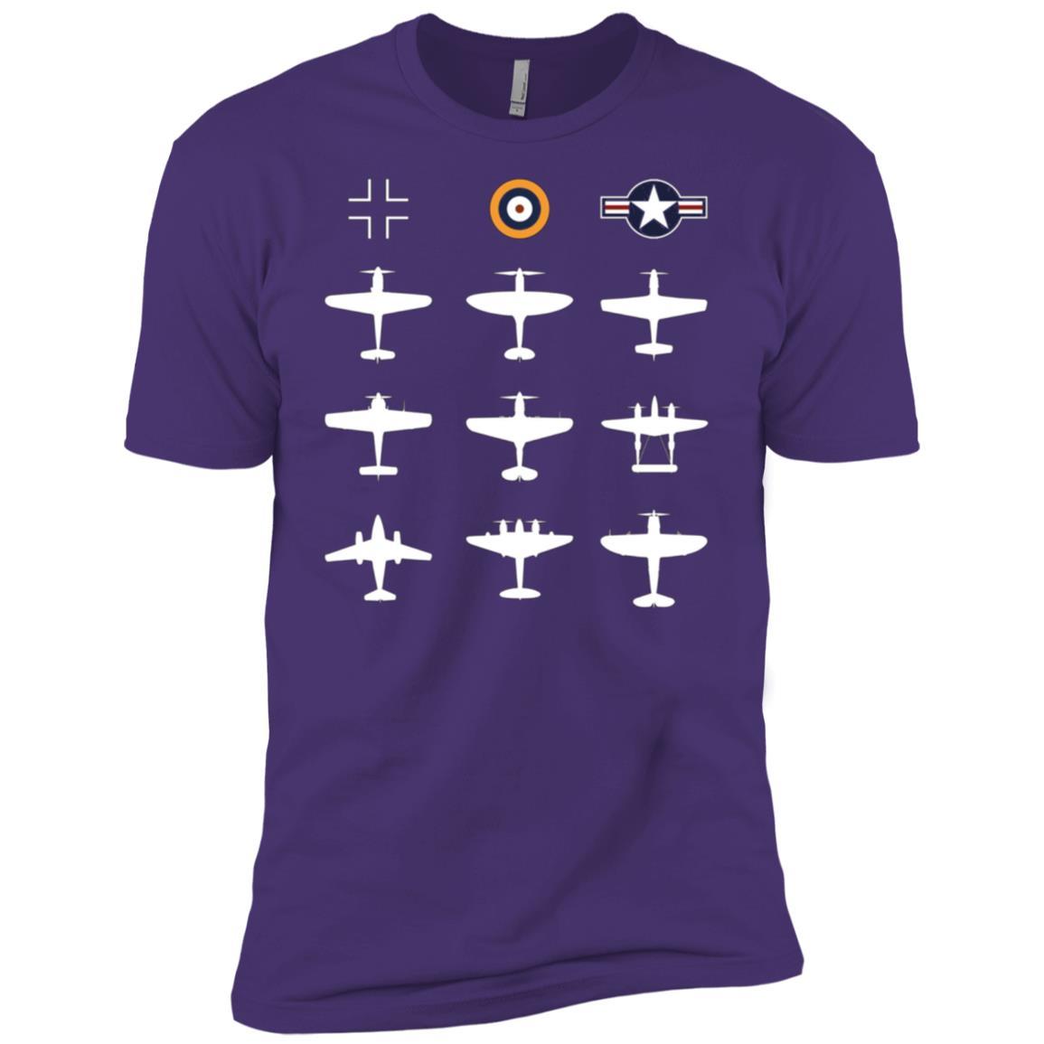 WW2 Warbird GATHERING Messerschmitt Mustang Spitfire Gift Men Short Sleeve T-Shirt