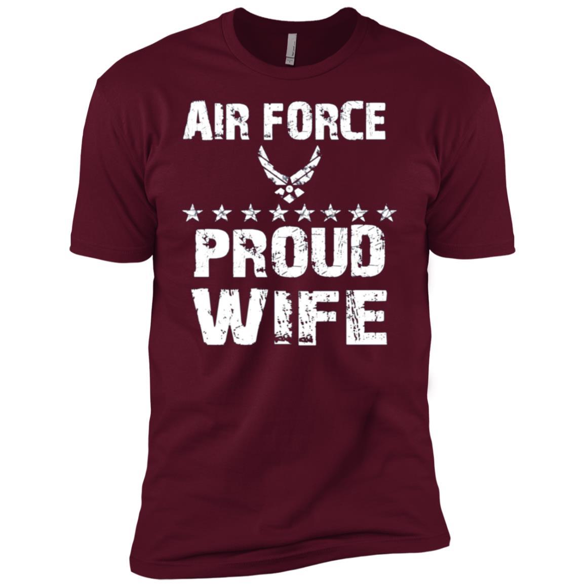 Womens USAF T-SHIRT PROUD WIFE AIR FORCE TSHIRT USAF WIFE GIFT Men Short Sleeve T-Shirt