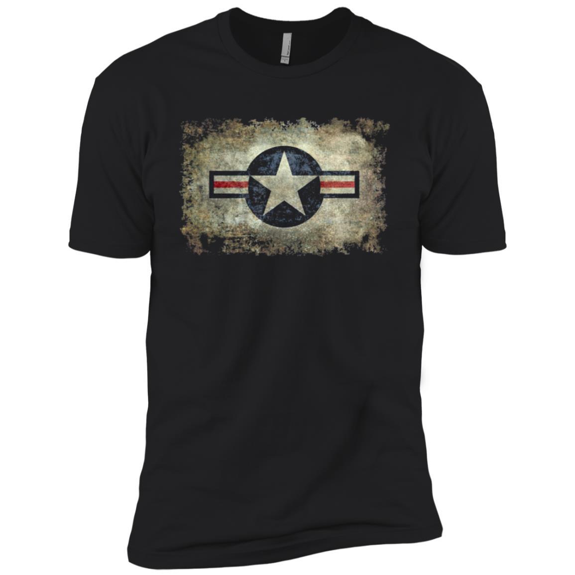 Vintage Retro Style Star Air Force Roundel Symbol Men Short Sleeve T-Shirt