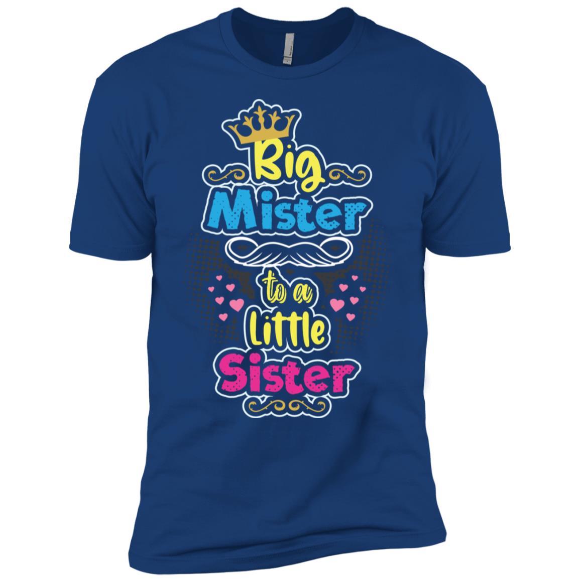 Big Mister Of A Little Sister Pregnancy Announcement Men Short Sleeve T-Shirt