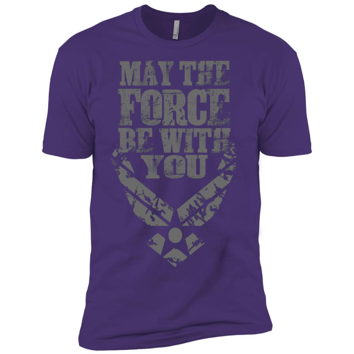 U.S. Air Force Funny Force Logo USAF GIFT Men Short Sleeve T-Shirt
