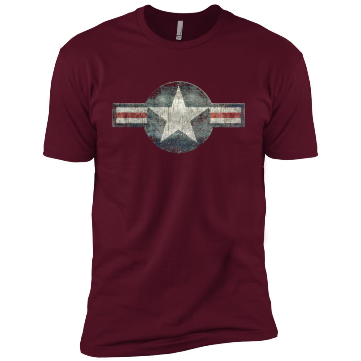 Stylized USAF Roundel Symbol , with heavy distressing Men Short Sleeve T-Shirt