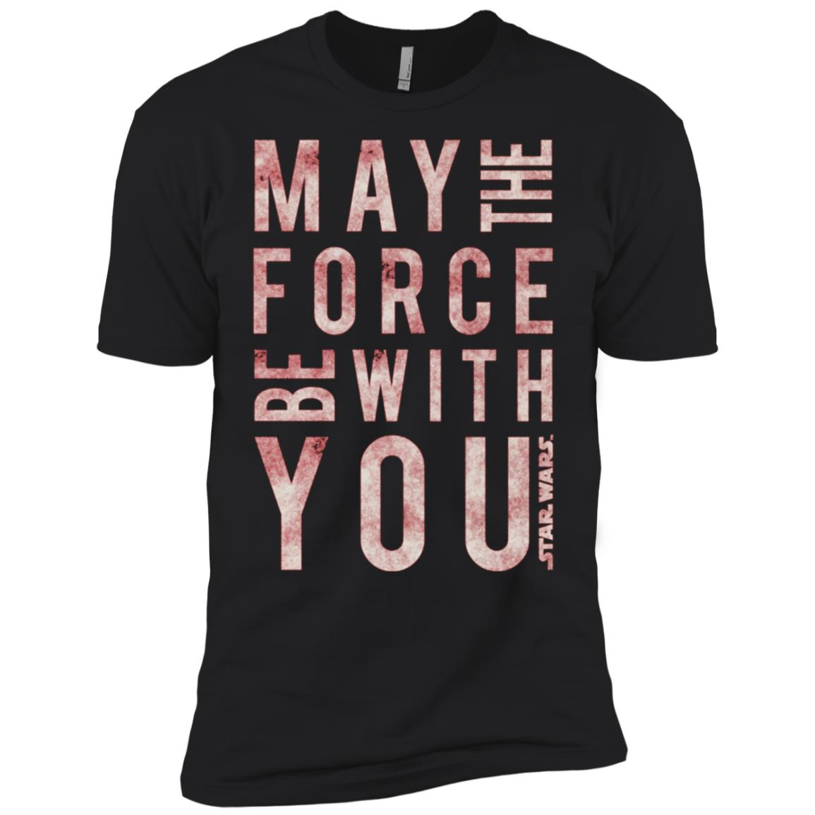 Star Wars May The Force Be With You Scrambled Men Short Sleeve T-Shirt