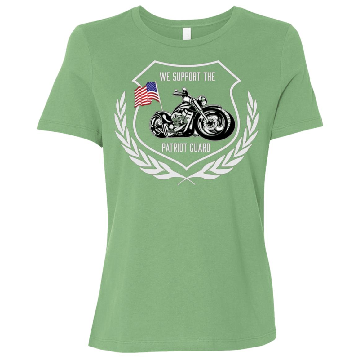 Veterans We Support The Patriot Guard Funeral Procession Women Short Sleeve T-Shirt