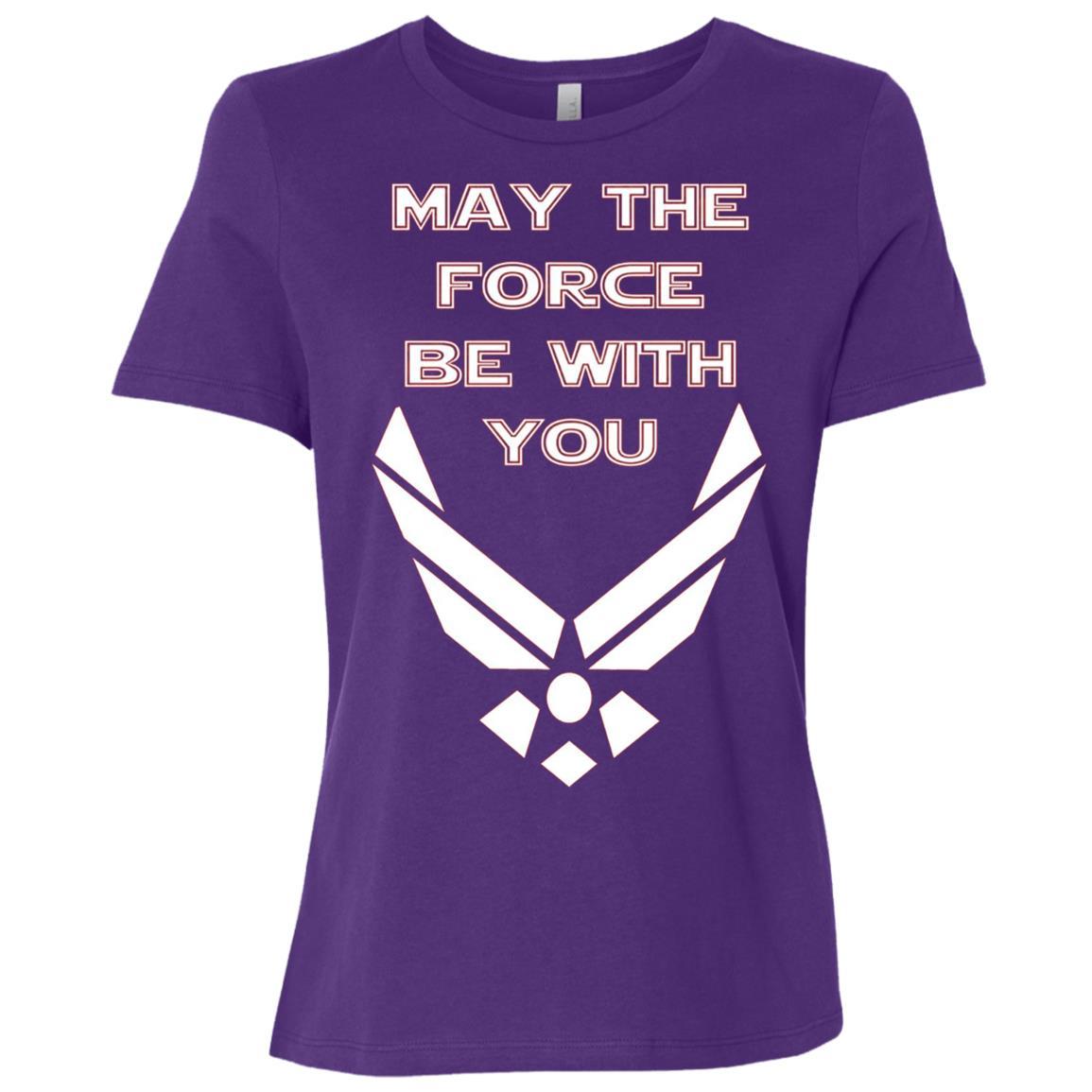 U.S. Air Force Funny Force Logo USAF Women Short Sleeve T-Shirt